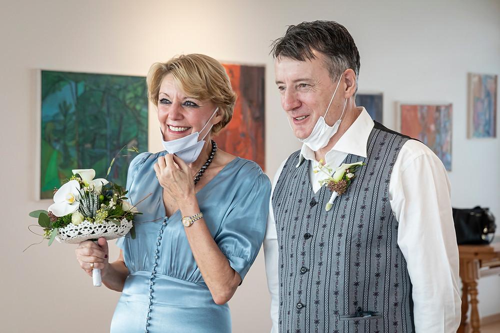 Zivile Trauung, Braut und Bräutigam