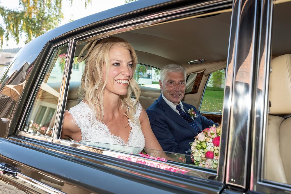 Brautauto Hochzeitsfotografie Brigels