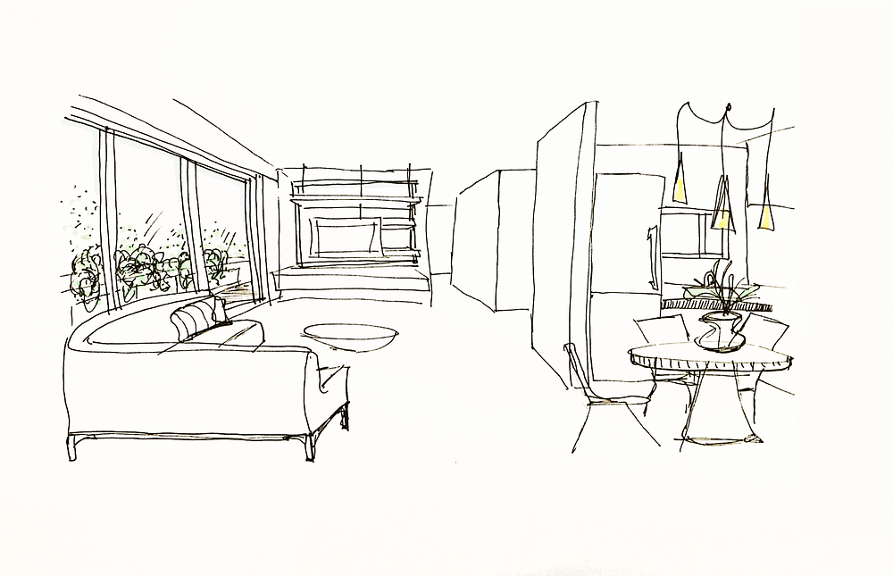 sketch, croquis, concept, design, ideas, decoration, architecture