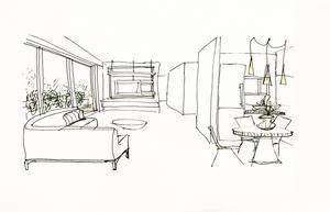 sketch, croquis, concept, design, ideas, decoration, architecture