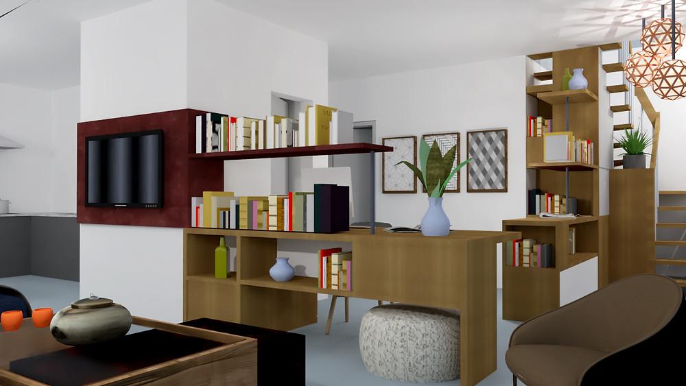 Ambiente de trabajo en casa, estudio, homeoffice
