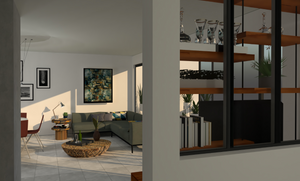homeoffice, living room, family room, open space, decoration, architecture, layout