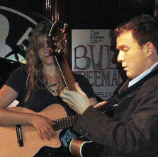 With Nina Clark at the Dean St Pizza, circa 2005