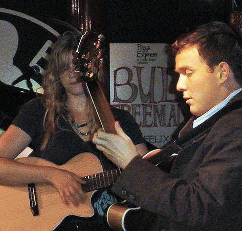 With Nina Clark at the Dean St Pizza, circa 2005