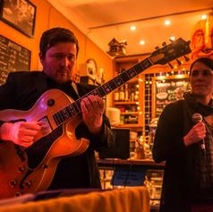 Sophie Smith and I at Cafe Lento. Photo Lloyd Spencer