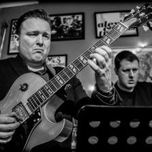 Garry Jackson and I at Cafe Lento. Photo Lloyd Spencer