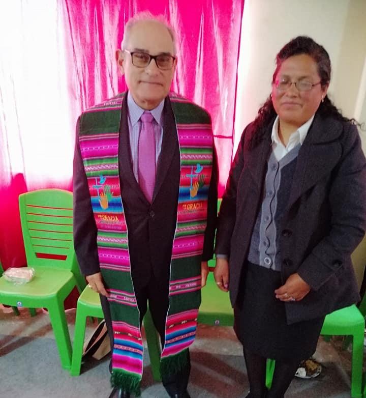 Rev. Rafael Malpica and Prof. Rev. Maritza Castañeta, Lutheran School in El Alto, La Paz, director.