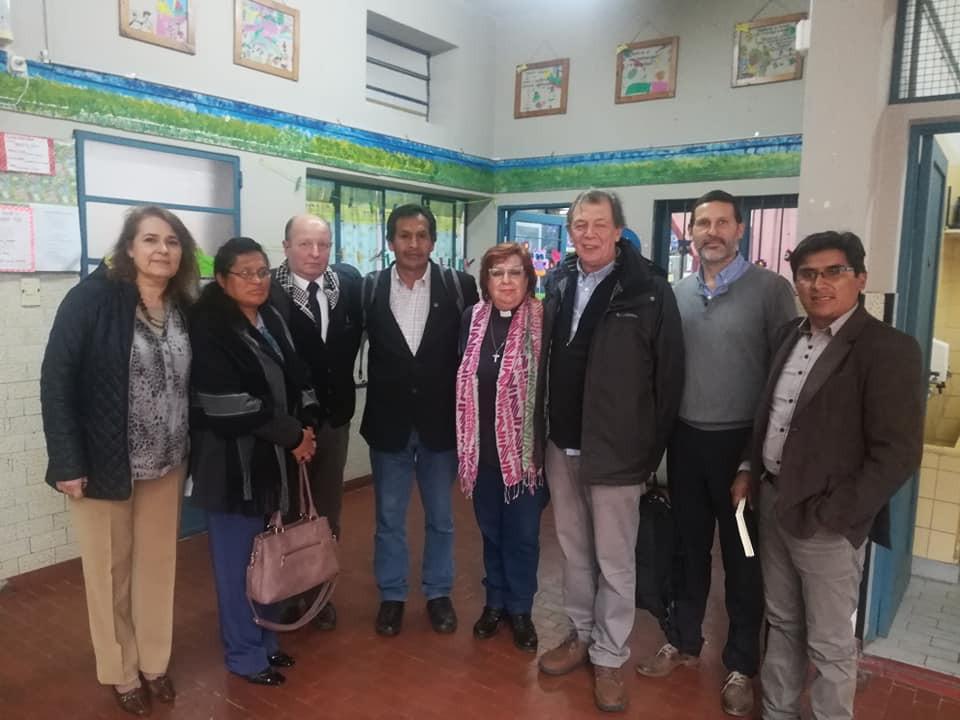Visiting the Lutheran School (IEA) in José C. Paz, Buenos Aires.