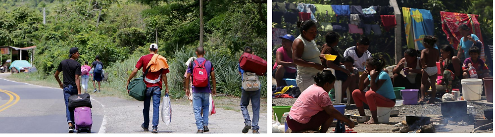 Venezuelan migrants on their dangerous and complicated road
