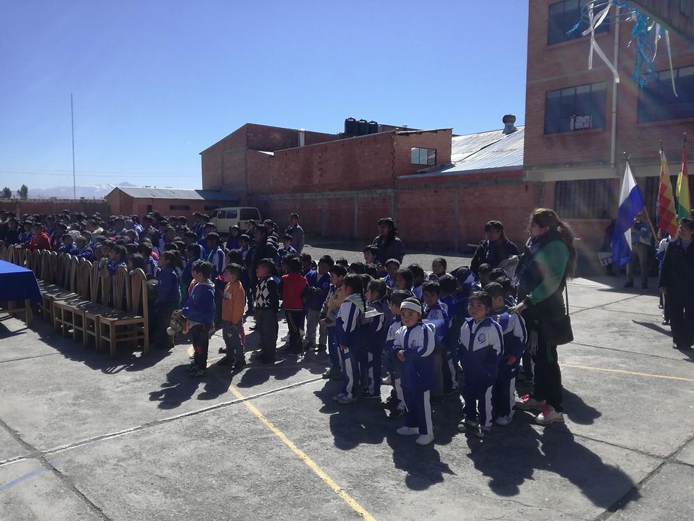 Students and Teachers in Lutheran School in El Alto, la Paz.