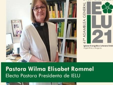 Rev. Wilma Rommel, elected presiding pastor in IELU Argentina-Uruguay