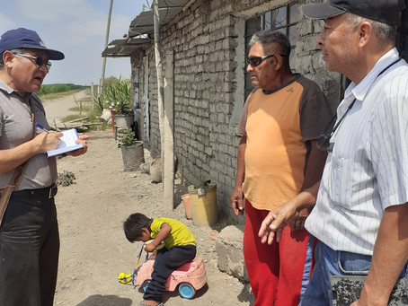 Water means life. SEPEC-Peru repairing earthquake damaged wells