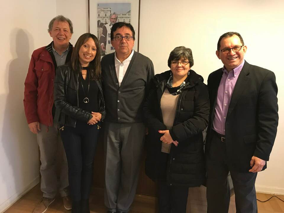 From right to left: Gustavo Driau; the Rev. Mariela Sufan (IELCH Council Member); IELCH Bishop Rev. Oscar Sanhueza, Mrs. Damaris Triujillo (IELCH Council member); the Rev. Jaime Dubon. Director for Latin America and the Caribbean/ELCA-Global Mission