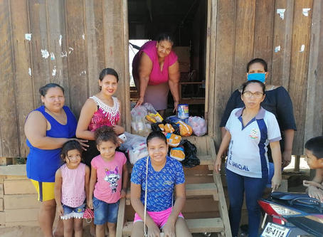 Hunger alleviation in Cobija, Bolivia. A IELB and Montana Synod shared COVID-19 campaign
