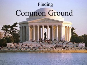 Finding Common Ground