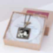 """1"""" circle photo necklace - 16"""" dainty cable chain $34.99"""