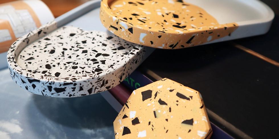 Jesmonite Tray & Paperweight Making Workshop RM220