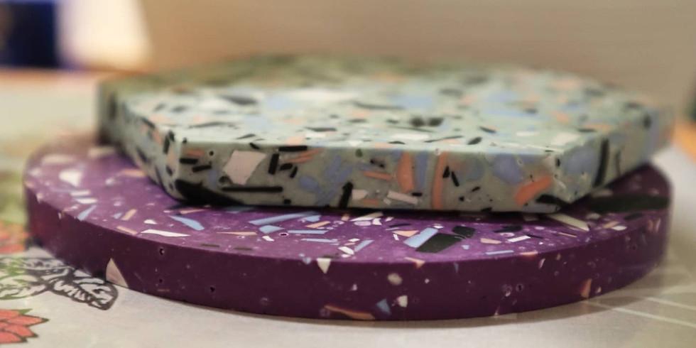 Jesmonite Coaster Making (Online Workshop) RM180