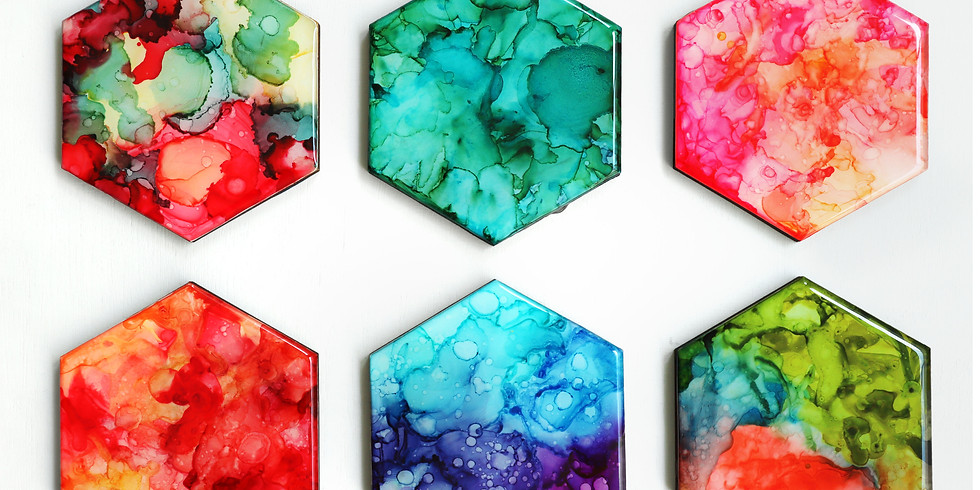 Alcohol Ink and Resin Coaster Making Workshop RM200