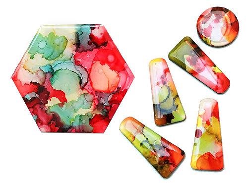 January 16 Alcohol Ink Resin Jewellery & Coaster Making (2 in 1) Workshop