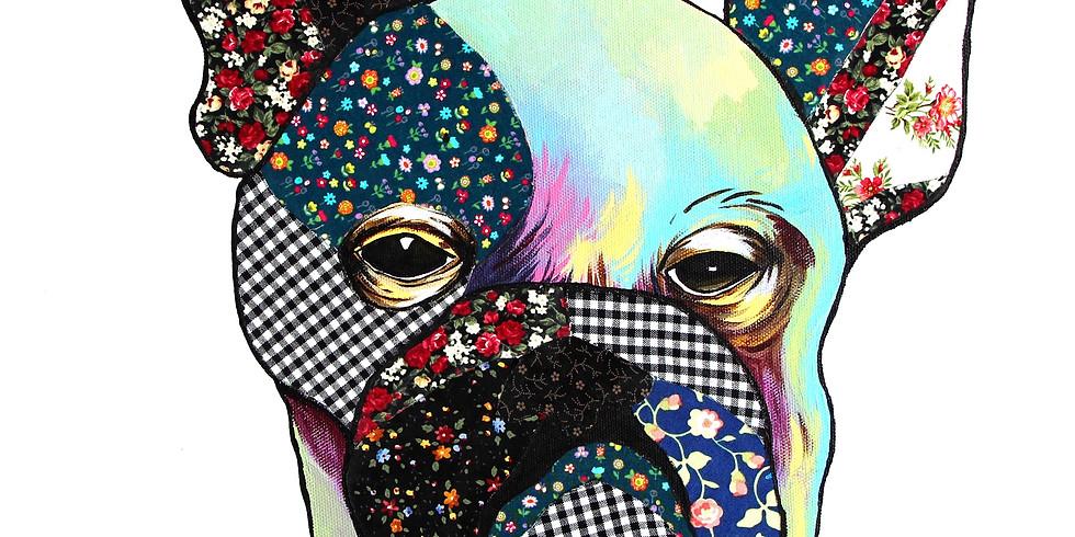 Dog Fabric Collage R̶M̶1̶8̶0̶ RM165
