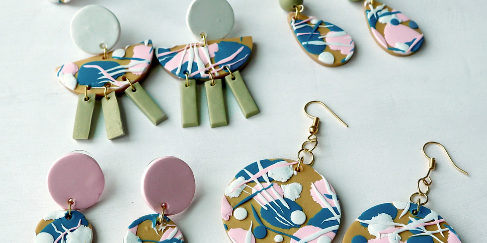 Abstract Floral Pattern Clay Jewellery Making Workshop RM165