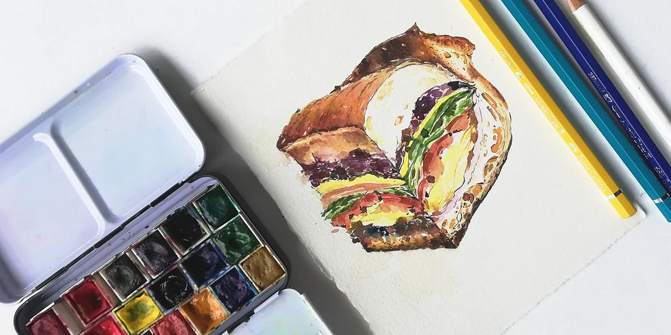 Food Illustrations Workshop RM180