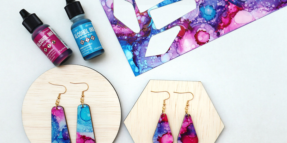 Alcohol Ink and Resin Jewellery Making Workshop RM220