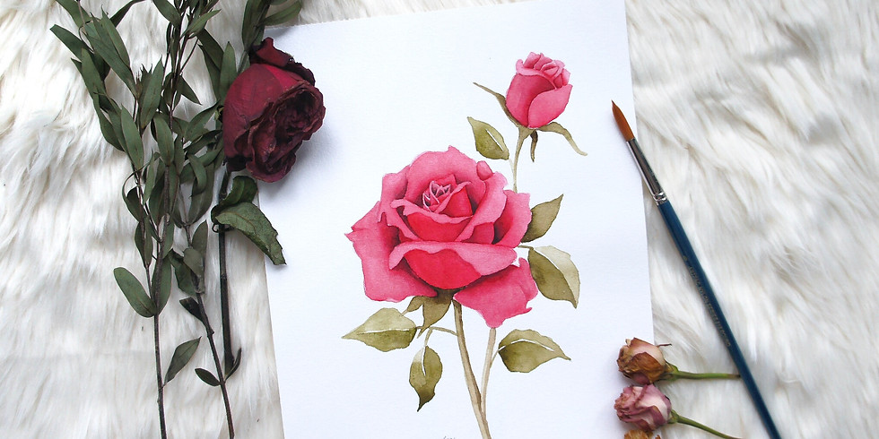 Rose Theme Watercolour Workshop RM180