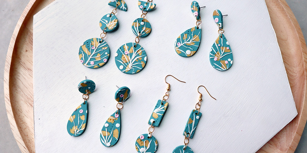 Abstract Floral Pattern Clay Jewellery Making Workshop RM180
