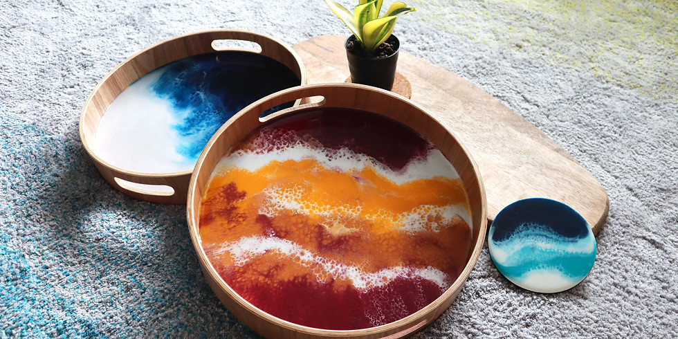 Resin Art Tray and Coaster Making Workshop RM350