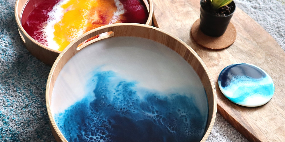 Resin Art Tray and Coaster Making Workshop RM300 (1)