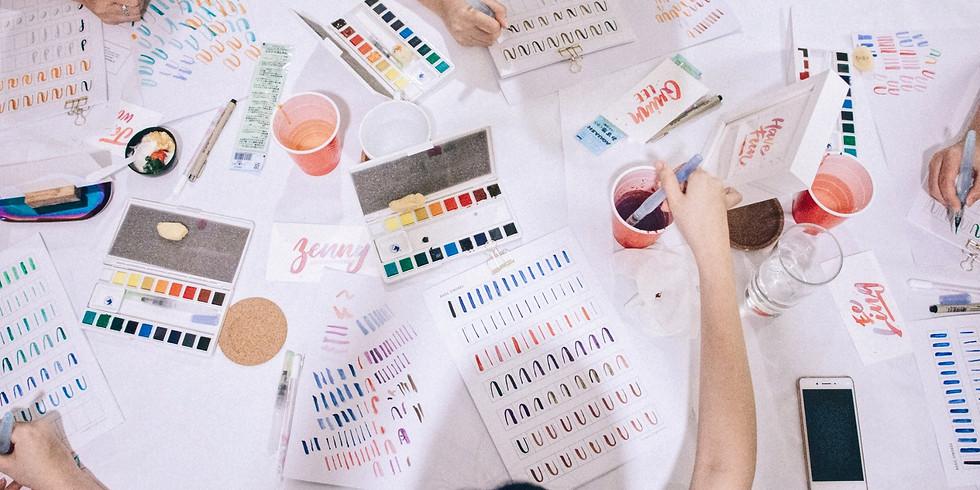Watercolour Lettering Workshop RM180