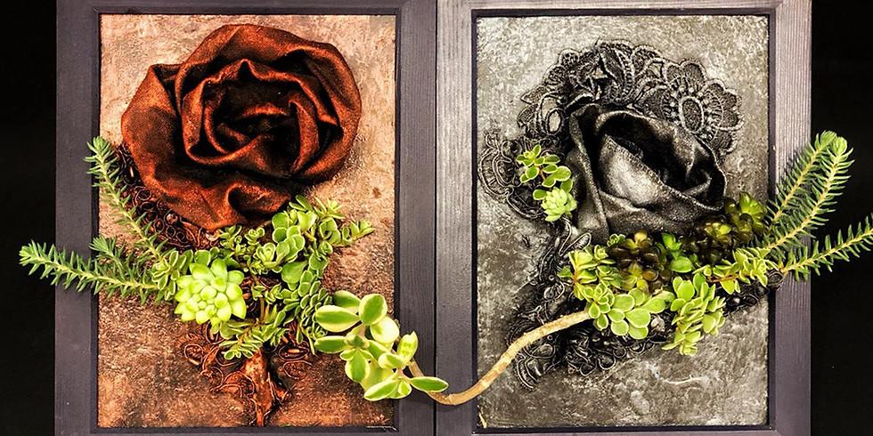 Fabric Sculpture with Succulents Workshop RM380