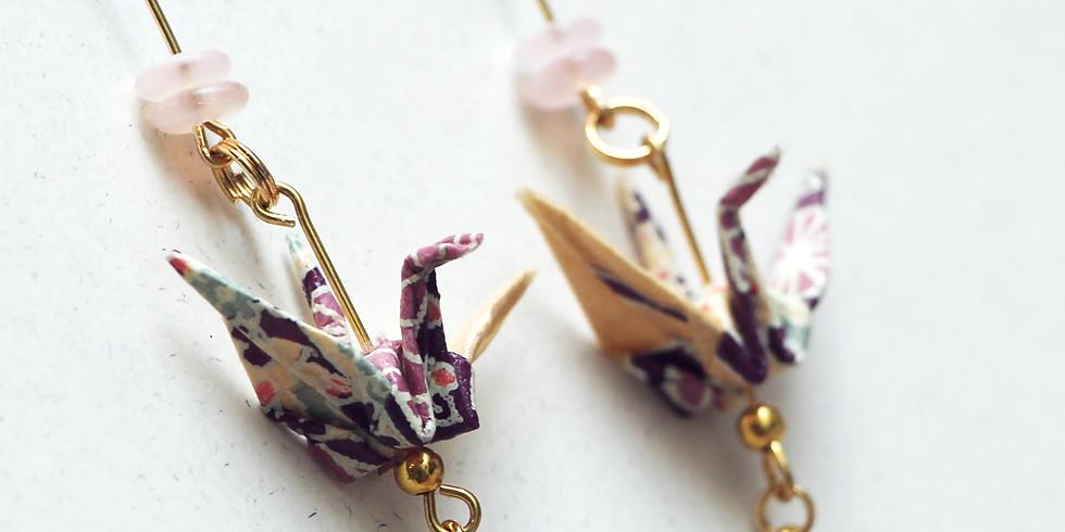 Japanese Origami Earrings Workshop R̶M̶1̶9̶0̶ RM171