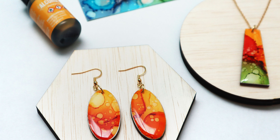 Alcohol Ink and Resin Jewellery Making Workshop RM180  (2)