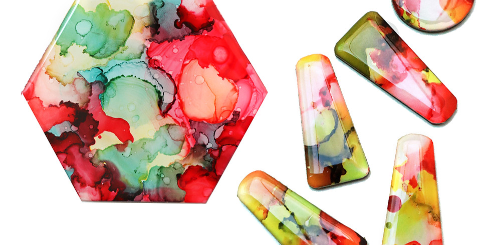 Alcohol Ink Resin Jewellery & Coaster Making (2 in 1) Workshop RM220