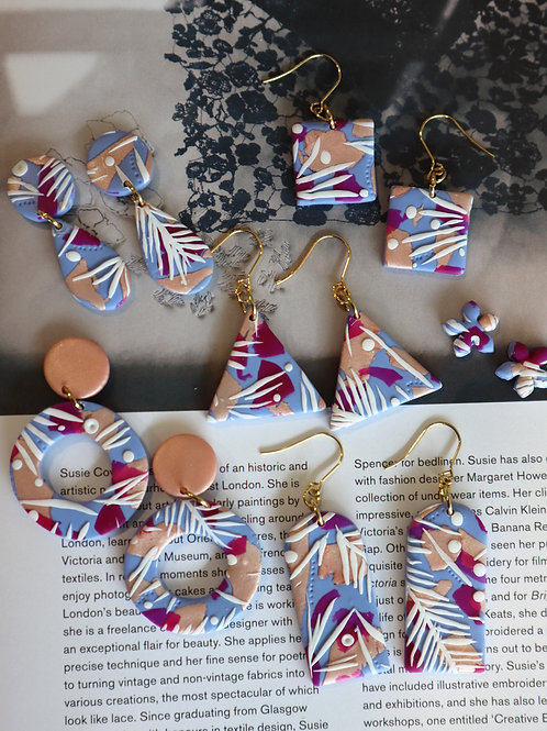 April 24 Abstract Floral Pattern Clay Jewellery Making Workshop