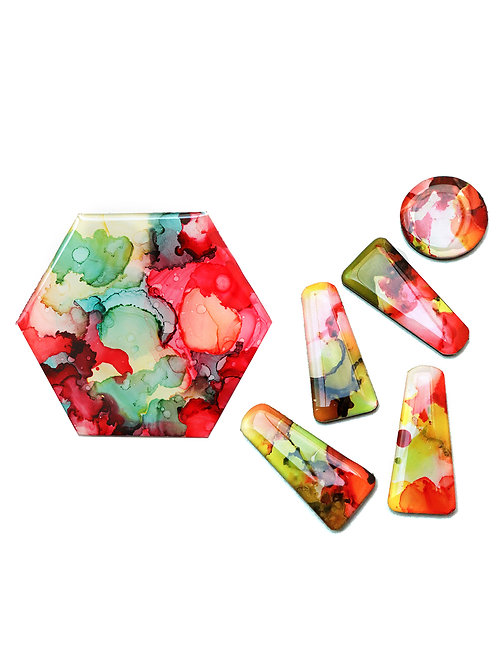 May 29 Alcohol Ink Resin Jewellery & Coaster Making (2 in 1) Works
