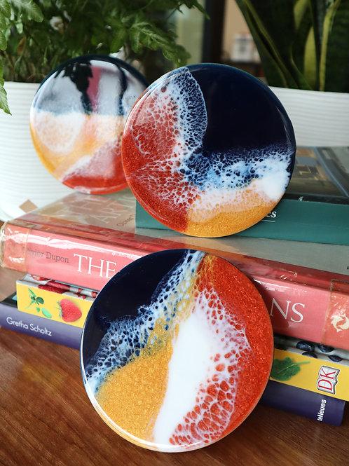 January 31 Resin Art Coaster Making Workshop
