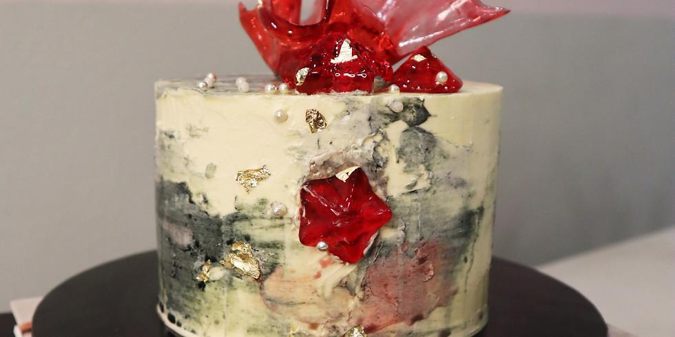 Concrete Buttercream & Isomalt Cake Making Workshop RM280