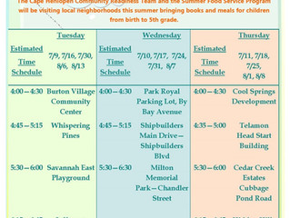 2019 Cape Community Bookmobile Schedule