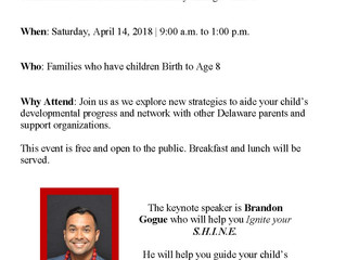 Save the Date: Delaware Readiness Teams Parent Conference