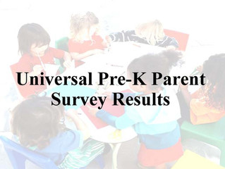 Parents' Opinion on Universal Pre-K Survey Results.