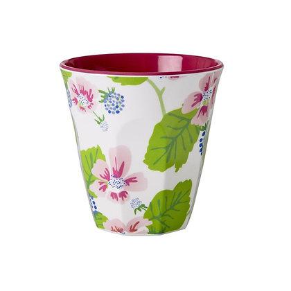 ★ כוס מלמין פרחונית