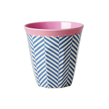 ★ כוס מלמין זיגזג כחול לבן