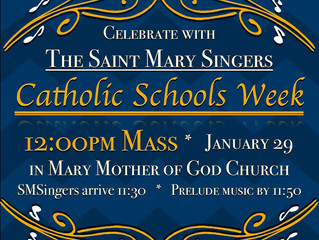 1/29 12pm Catholic Schools Week Mass