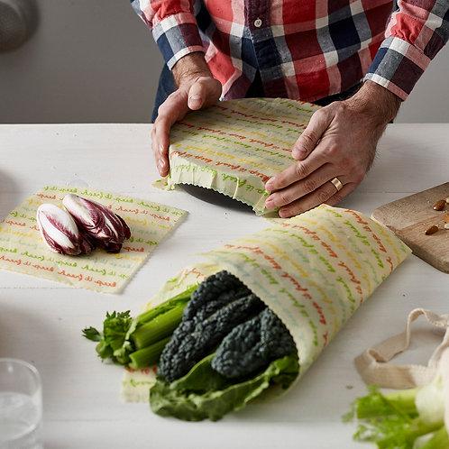 vegan food wraps, food wrap, food wraps, pano de cera vegan, pano de cera vegetal, embalagem de cartão