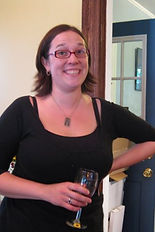 Melissa Thompson, General Manager, enjoying a glass of win.