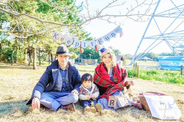 家族写真ロケーションフォト 誕生日